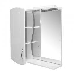 Шкаф навесной Ассоль-75, правый, белый