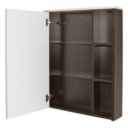 Шкаф с зеркалом навесной Боско-65, цвет белый, венге