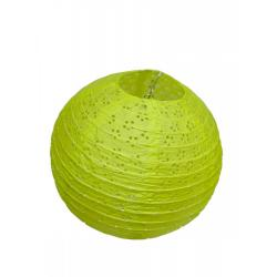 Абажур бумажный узорный, цвет лимонный