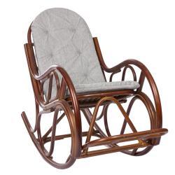 Кресло-качалка RattanDesign Classic с подушкой, цвет коньяк