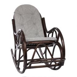 Кресло-качалка RattanDesign Classic с подушкой, цвет орех