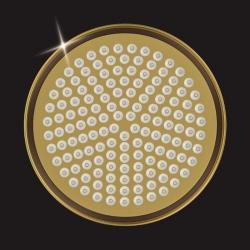 Верхний душ Elghansa, 200 мм, латунь, бронза