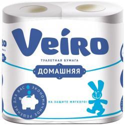 Туалетная бумага Veiro Домашняя, двухслойная, 4 рулона