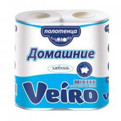 Полотенца бумажные Veiro Домашние, 2-х слойные, 2 рулона