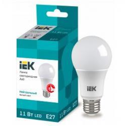 Лампа светодиодная Iek A60, Е27, шар, 11 Вт, 230 В, 4000 К